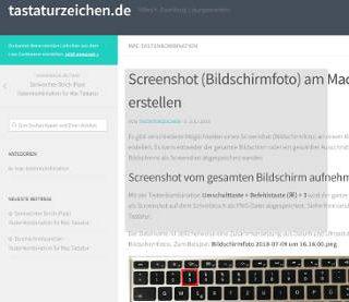 Screenshot Bildschirmfoto aufnehmen Mac