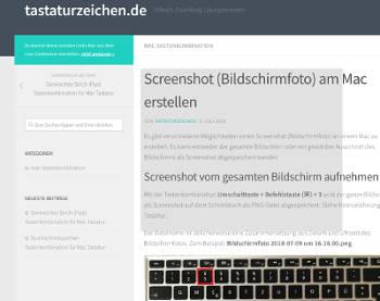 Screenshot Und Bildschirmfoto Erstellen Tastenkombination Mac Tastatur