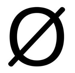 Durchschnittszeichen oder Durchmesserzeichen
