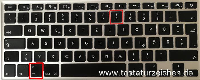 Geschweifte Klammer offen Mac Tastatur