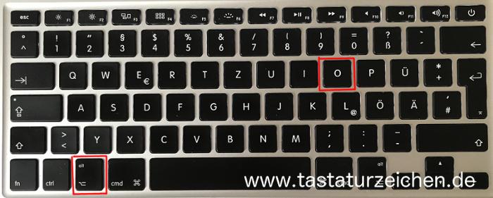 kleines Durchschnittszeichen Tastatur Mac apple