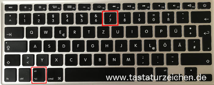Senkrechter Strich Pipe Symbol Tastatur Mac apple