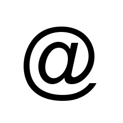 At Zeichen E-Mail Mac Tastatur