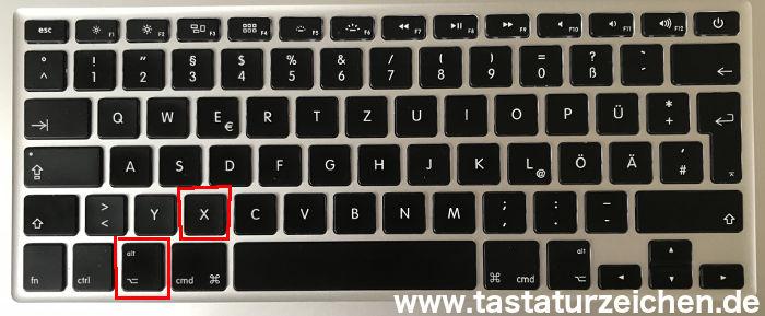 Gerundet Ungefähr Zeichen Mac apple Tastatur