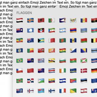 Emoji Zeichen kopieren einfügen Mac Tastatur